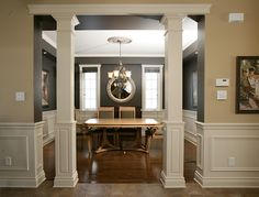 9 Gorgeous Tips AND Tricks: Basement Remodeling Crown Moldings finished basement furniture.Finished Basement Furniture basement remodeling on a budget barn doors.Basement Remodeling On A Budget Kitchen Cabinets. Interior Columns, House, Interior, Home, Remodel, Living Room Remodel, Home Remodeling, Small Basement Remodel, Room Remodeling