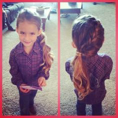 Flower girl hair. Braided