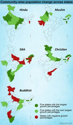 Religion in numbers: What 2011 Census reveals about India's communities - Firstpost Gernal Knowledge, General Knowledge Facts, Knowledge Quotes, Geography Map, Teaching Geography, Historical Maps, Historical Pictures, History Of India, World History