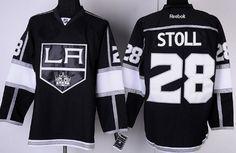 Los Angeles Kings #28 Jarret Stoll Black Jersey