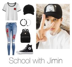 """School with Jimin"" by bts-outfit-imagines on Polyvore featuring Converse, rag & bone and Lokai"