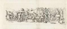 Franz Ertinger   Bacchanaal, Franz Ertinger, Raymond de Lafage, 1652 - 1707   Bacchanaal met naakte mannen, halfnaakte vrouwen en satyrs. Boven een tafel en een sofa met een naakt stel vliegen twee putti. Tussendoor lopen honden, olifanten en leeuwen.