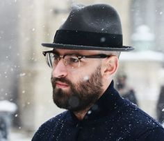 Ozeal Browline Glasses and a cool Beard