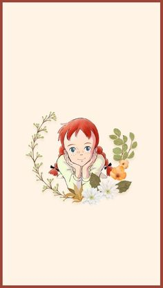 Cute Anime Girl Wallpaper, Black Wallpaper, Iphone Wallpaper, Embroidery Flowers Pattern, Creative Gift Wrapping, Anime Girl Drawings, Text On Photo, Aesthetic Pastel Wallpaper, Anne Of Green Gables