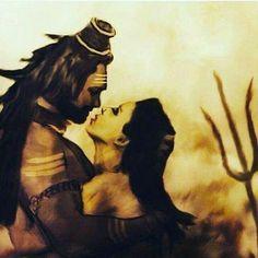Shiva Parvati Images, Mahakal Shiva, Shiva Art, Hindu Art, Kali Goddess, Goddess Art, Shiva Tattoo Design, Rudra Shiva, Baby Ganesha