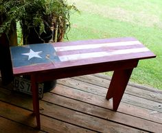 Prim Americana Bench...must make for our front porch.