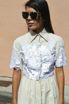 shirt dress with sequins. i'll take it <3 <3 http://www.desordrestore.com/femme/buy-now/by-designer/aje