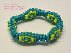 Beaded stretch bracelet in 3D technique. Free detailed tutorial.