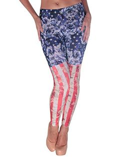 These high-quality, very unique ladies'leggings come in an incredible floral stars and vintage butterfly red and white stripes design. You are sure to stand out and be the only one wearing these, no matter where you go. Great Fit, Fits True to Size, Made in USA. Material: 96% Poly, 4% SpandexSize: S, M, LColor: Red/Off-White/BluePackage Includes:1 x Leggings