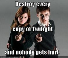 Give Them The Twilight Books - harry-potter-vs-twilight Photo