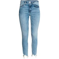 Skinny High Ankle Jeans (1,580 PHP) ❤ liked on Polyvore featuring jeans, pants, super skinny ankle jeans, tall jeans, denim ankle jeans, short pants and blue denim jeans