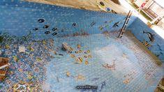 #Iranian_ceramic_for_swimming_pool Swimming Pool Tiles, Tile Installation, Iranian, Ceramics, Painting, Ceramica, Pottery, Painting Art, Paintings