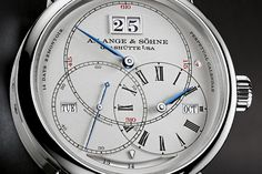 Last year A. Lange & Söhne made quite the statement introducingthe Grand Complicationat SIHH, and this year we have another extremely complicated, if slightly more wearable, watch from Lange. The Terraluna starts with a regulator-style time display, adds a perpetual calendar with Lange's classic big date, houses an orbtial moonphase display on the movement itself and is powered by a 14-day movement with constant force escapement. When we said extremely complicated, we weren't exaggerating…