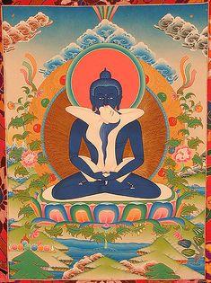 Buddhist Art at The Spirit and Flesh Cosmic Visionary Art Gallery. Tantra, Tantric Yoga, Tibetan Art, Tibetan Buddhism, Buddhist Art, Mahayana Buddhism, Thangka Painting, Flash Art, Sacred Art