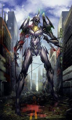 Neon Genesis Evangelion - Eva-001 by tekkoontan