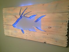 Nice Beautiful Backlit Pallet Wall Art!  #art #homedécor #palletdecoration #recyclingwoodpallets I take used but beautiful pallets and turn them into the wall hanging art with multiple paints and stains and feature center cut out designs and then finish with LED accent lighting.