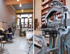 the stunning studio olivine (letterpress studio)