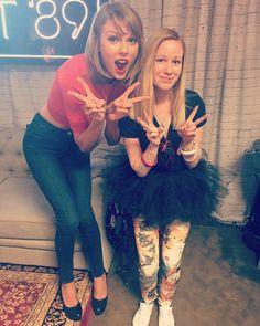 Taylor with a fan in Loft '89 Kansas City! 9.21.15