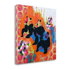 Tangletown Fine Art 'Good Thoughts' by Jessica Swift Painting Print on Wrapped Canvas
