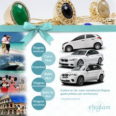 Na Eleglam você lucra com a venda direta de semijoias e ainda ganha prêmios incríveis por meritocracia.  www.eleglam.com.br