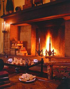 Ahwahnee Hotel, Yosemite NP -- you can't really tell by the photo but this fireplace is HUGE.  I'm well over 6 feet tall and I can stand inside it.