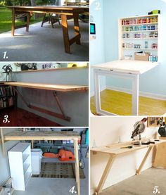 DIY Cutting Table Ideas for Your Sewing Studio Closet Case Patterns diy craft sewing table - Diy Craft Table Diy Sewing Table, Diy And Crafts Sewing, Diy Table, Sewing Projects, Diy Crafts, Diy Cutting Board, Cutting Tables, Folding Tables, Craft Room Desk