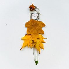 """Autumn is a second spring where every leaf is a flower."" Albert Camus #mermagnaturecrafts #merillustration thanks for sharing your autumn fairy  @make_it_your_own_ (download your one garden sprites to play with on the blog)"