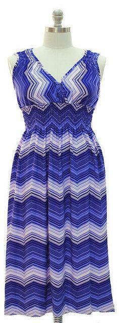 bcedc31e74d NWT Plus size.Chevron Maxi Dress - Royal Blue .01 Cent SUMMER SALE BID NOW!  2X
