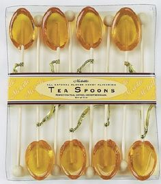 Flavored Tea Spoons: Lemon, Honey, Raspberry + Cinnamon. #teaspoons #teaparty #gifts