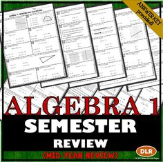 Great review for Algebra EOC!