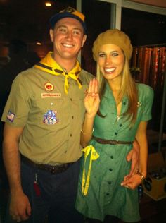 halloween costume idea for couples: girl/boy scouts!