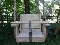 Toddler Swing and Rope by WoodSwings on Etsy, $119.00. For Daddy to build? It would be great at camp!