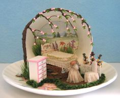 Teacup scenes - Miniature Projects - Picasa Web Albums - Time for bed by Pam Junk