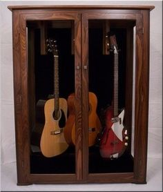Guitar Collector Display Cases Finely Handcrafted for the Guitarist From Ron Kieper of BBR Woodworks
