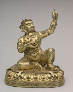 Virupa, early 1400s China, Ming dynasty (1368-1644), Yongle reign (1403-1424) gilt bronze,