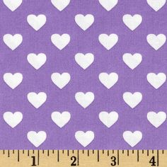 Michael Miller It's A Girl Thing Hearts All Over Hearts Purple