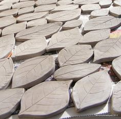 How to make clay leaves for mosaic