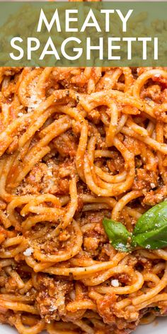 Easy Spagetti Recipes, Pasta Dinner Recipes, Entree Recipes, Top Recipes, Meat Recipes, Cooking Recipes, Amazing Recipes, Delicious Recipes, Sweets Recipes