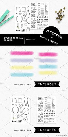 Stationery Templates, Everything Is Possible, Day Planners, Any Book, Brush Strokes, Create Yourself, Diy Projects, Bullet Journal, How To Plan