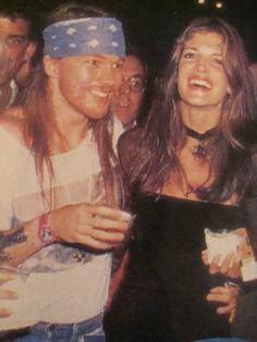 stephanie seymour and Axl Rose, MTV music awards, 1992 #90supermodel