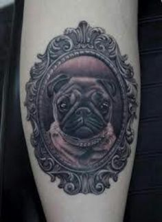 Pug Tattoo by Pete the Thief | Dog Tattoos | Pinterest