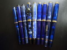 Blue Pelikan collection - beautiful pens to write beautiful letters....