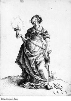 Artist: Graf, Urs, Title: Kluge Jungfrau, Date: 1513