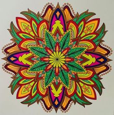 ColorIt Mandalas to Color Volume 1 Colorist: Jan Long #adultcoloring #coloringforadults #mandalas #mandala #coloringpages