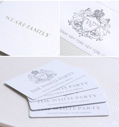 Luxury Party Invitations by Ceci New York - Our Muse - Be inspired by Diddys White Party invitations - event, foil stamping, invitations