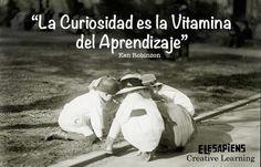 La curiosidad es la vitamina del aprendizaje - Ken Robinson