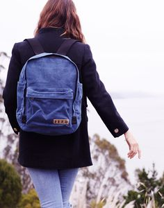 The FEED Backpack in Indigo from the Fall 2015 Collection. Pair with your favorite jeans and cozy fall jacket for a classic look. True to the FEED model, this bag provides 75 school meals to children in need when purchased.