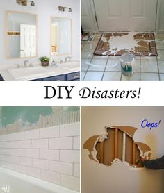 When DIY goes wrong, DIY Disasters that you have to see from home decor bloggers! DIY fails