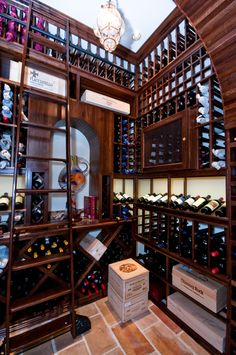 "Stunning Wine Library Dream Cellar... more things that say ""Abi & Aaron"" all over it."