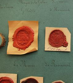 Wax seals...make a letter special